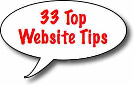 Learn 33 Top Website Tips to help your website