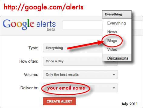 website marketing plan step 1 google alerts blogs Website Marketing Plan   Step 1   How to get your first 75 Website Visitors