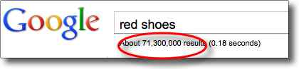 "What  is SEO -- Example of search engine results for ""red  shoes"""