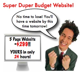 Build A Website - Super Duper Budget Inexpensive Website
