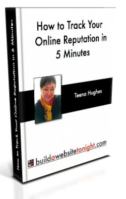 Report -- How to track your online reputation (image ebook cover)